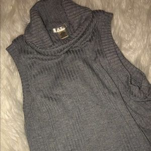 Tops - gray turtle neck tank top